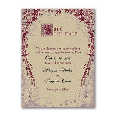 Vintage Garland - Save the Date - Kraft