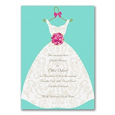 Bridal Shower Invitation: Damask Dress
