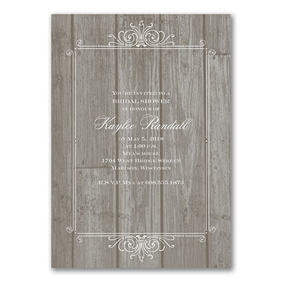 Rustic - Bridal Shower Invitation