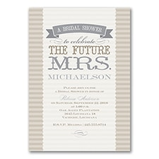 Proclamation - Bridal Shower Invitation