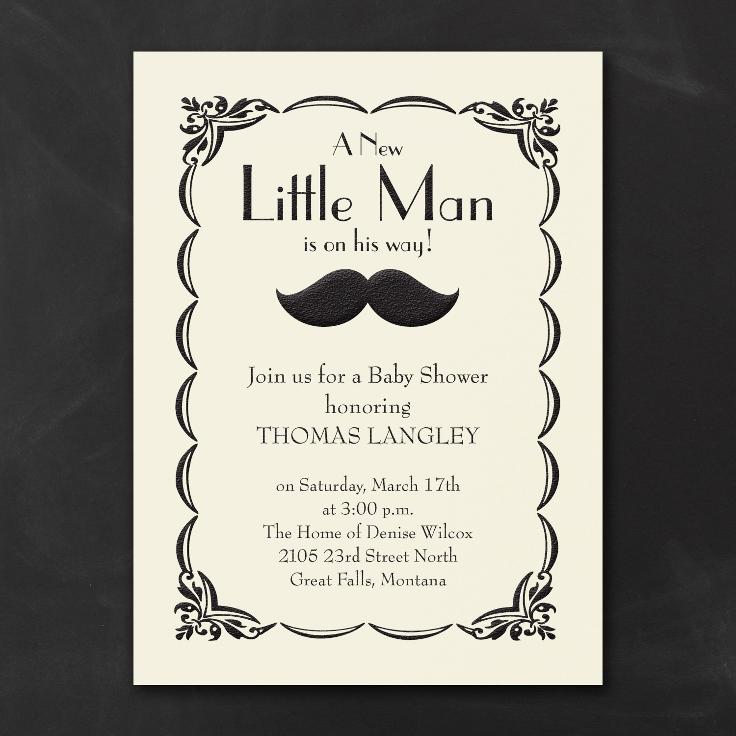 Little Man - Baby Shower Invitation > Baby Shower Invitations ...