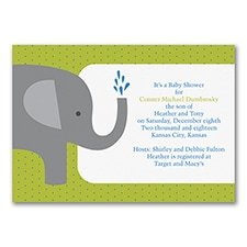 Elephant - Baby Shower Invitation