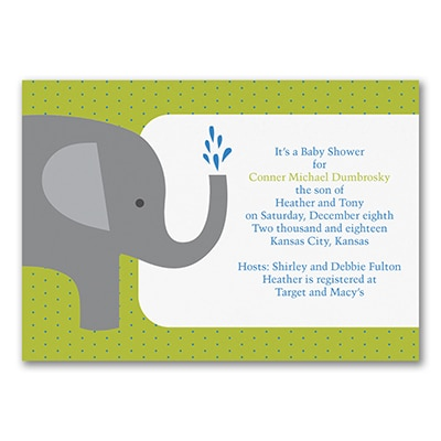 Elephant - Baby Shower Invitation