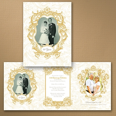 Ornate Elegance Photo Storyline - Anniversary Invitation