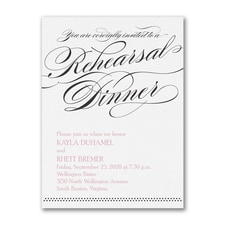 Together Forever - Rehearsal Dinner Invitation