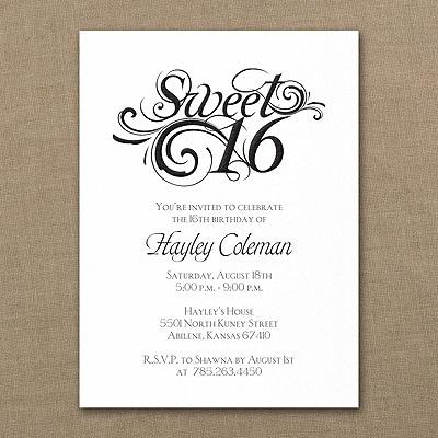 Sweetest Sixteen - Birthday Invitation