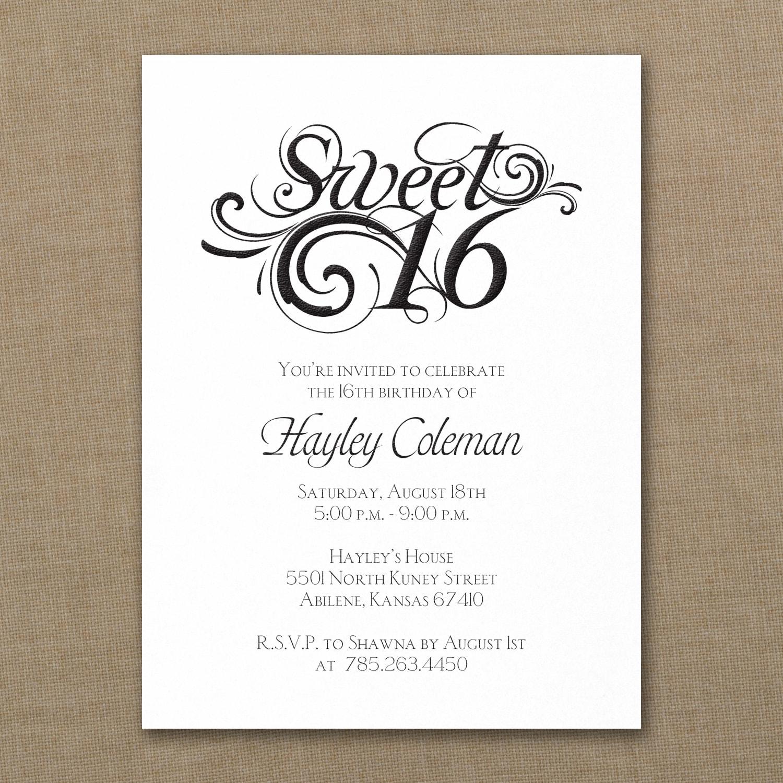 Sweetest Six Birthday Invitation Sweet Sixs