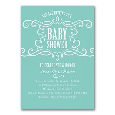 Sweet Swirls - Baby Shower Invitation
