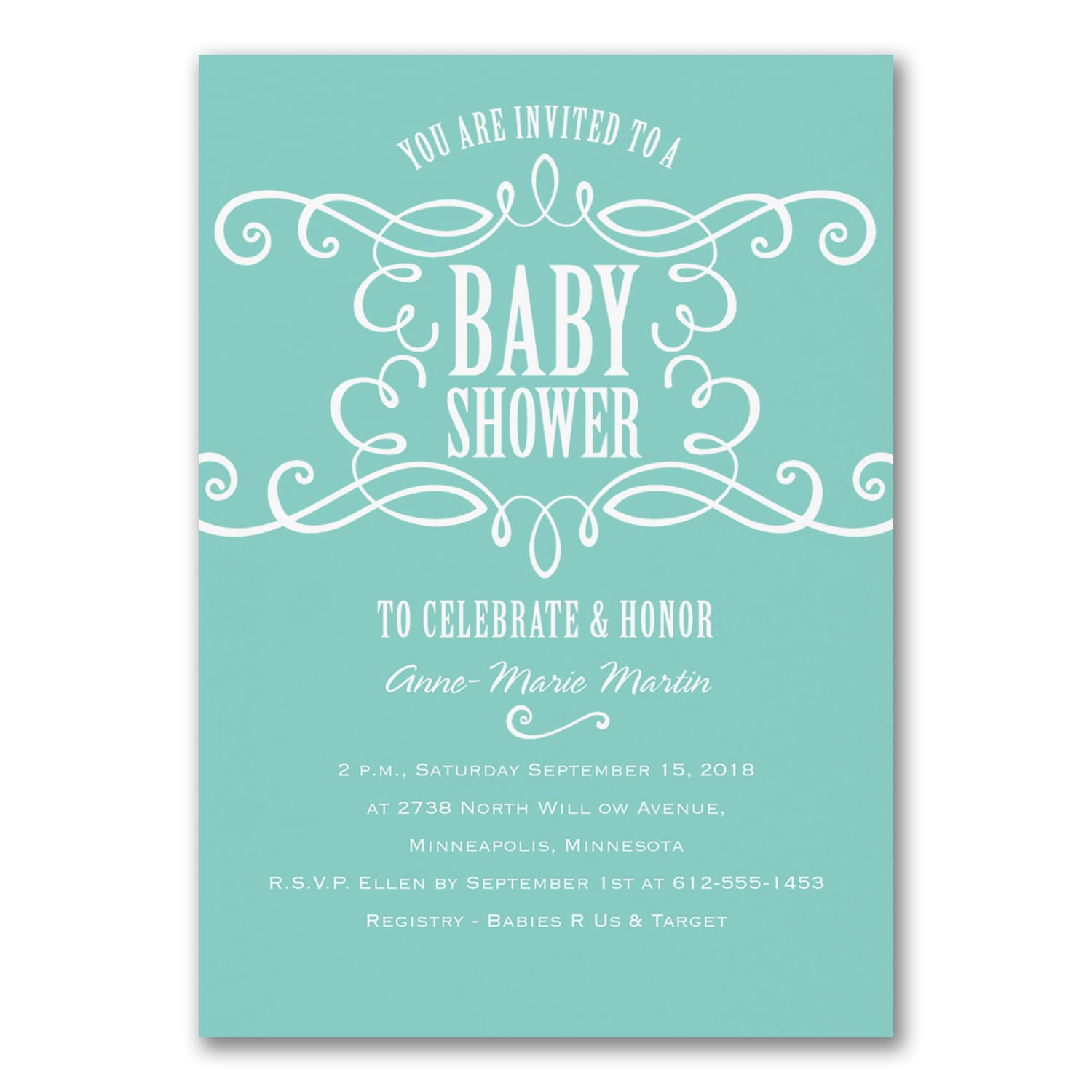 Sweet Swirls Baby Shower Invitation Showers Carlson