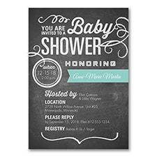 Cute Chalkboard - Baby Shower Invitation