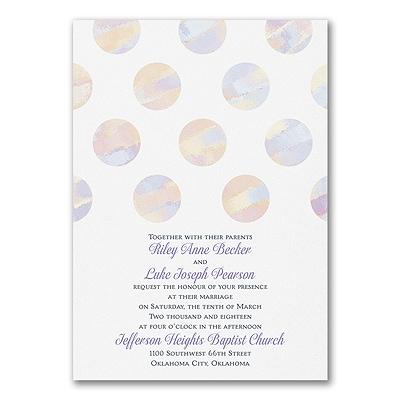 Artsy Dots - Invitation