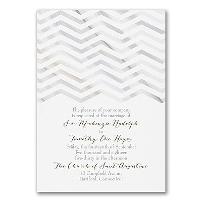 Marbled Chevron - Invitation