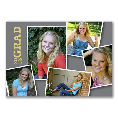Snapshot Style - Photo Graduation Invitation