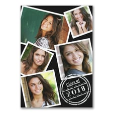 Classic Collage - Photo Graduation Invitation