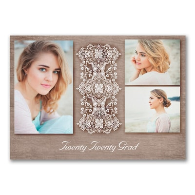 Classic Lace - Photo Graduation Announcement