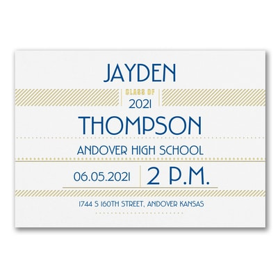 Super Shine - Graduation Invitation - Horizontal