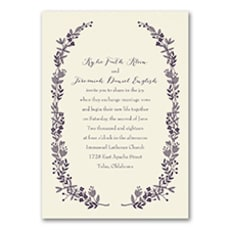 Flowery Frame - affordable and cheap invitation