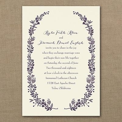 Flowery Frame - Ecru - Invitation
