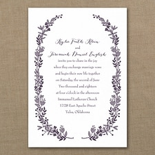floral invitation: Flowery Frame