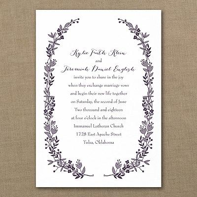 Flowery Frame - Invitation