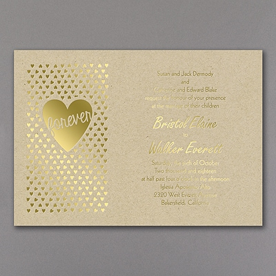 Heart Glow - Invitation - Gold
