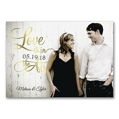 Shiny Love - Gold - Photo Invitation