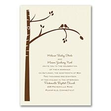 Birch Tree Love - Invitation - Ecru