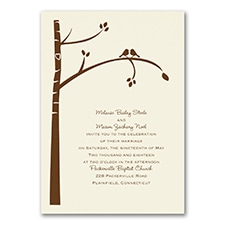 Birch Tree Love - Invitation - Ecru