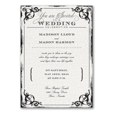 Wedding Invitation: Antique Filigree Frame