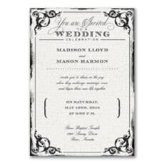 Antique Filigree Frame - Wedding Invitation