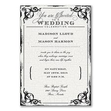 Wedding Invitation: Antique Filigree Frame