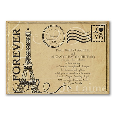 Forever Paris - Invitation