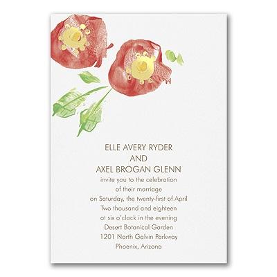 Sparkling Flowers - Invitation