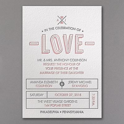 Love Letterpress - Invitation
