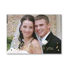 Shimmering Thanks - Photo Thank You Note