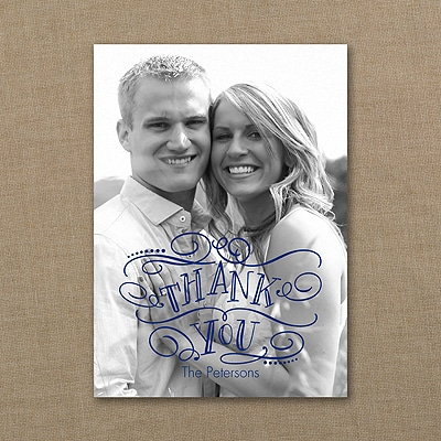 Whimsical Thanks - Photo Thank You Note