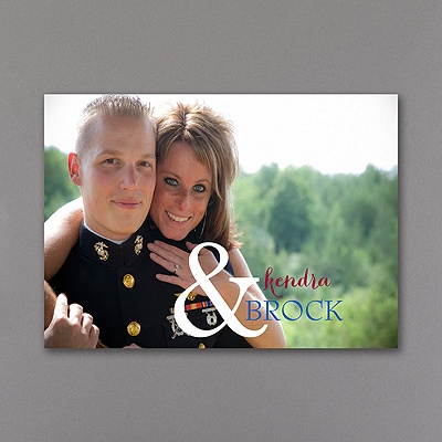 Colorful Ampersand - Photo Thank You Note