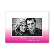 Ombre Thanks - Photo Thank You Note