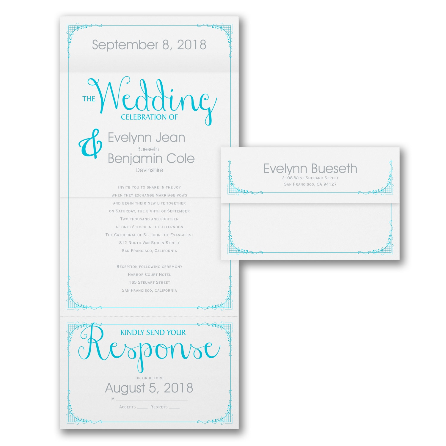 Its a Celebration Seal n Send Invitation Wedding Invitations