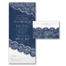 Vintage wedding invitation: Love the Lace