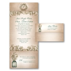 Sweet Rustic - Seal and Send Invitation