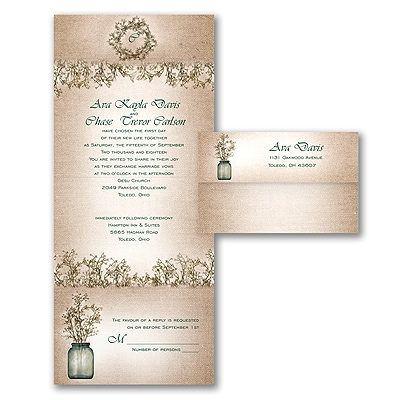 Sweet Rustic - Seal 'n Send Invitation