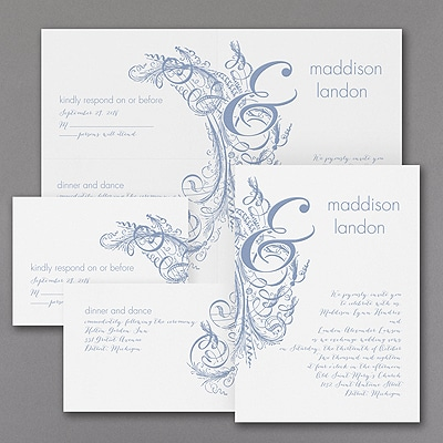 Vintage Calligraphy - Sep 'n Send Invitation