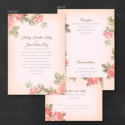 Rosy Vintage - Invitation
