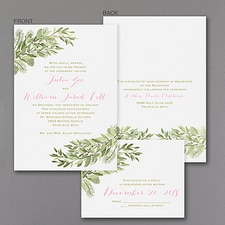 rustic invitation: Winter Berries