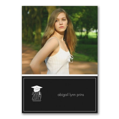 Grad Classic - Photo Graduation Invitation