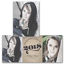 Rustic Class - Photo Graduation Invitation