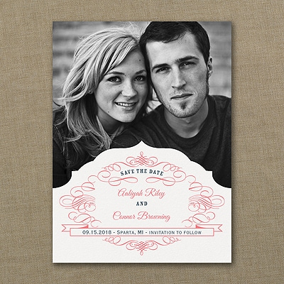 Romantic Crest - Photo Save the Date