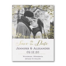Gleaming Wreath - Save The Date