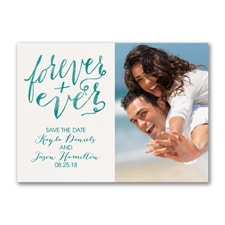 Forever and Ever - Photo Save the Date Postcard